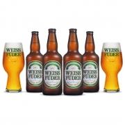Combo cerveja Weiss Füder IPA 4 garrafas + 2 copos