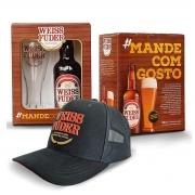 Combo cerveja Weiss Füder kit com garrafa e copo + boné