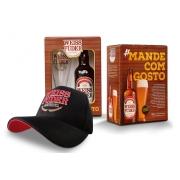 Combo cerveja Weiss Füder kit garrafa e copo + boné