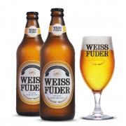 Combo cerveja Weiss Füder Pilsen 2 garrafas + 1 copo