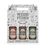 Kit Presente Cerveja Weiss Füder 3 garrafas