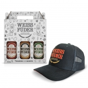 Kit Presente Cerveja Weiss Füder 3 garrafas + boné