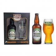 Kit Presente Cerveja Weiss Füder IPA Copo e garrafa
