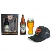 Kit Presente Cerveja Weiss Füder IPA Copo e garrafa + boné