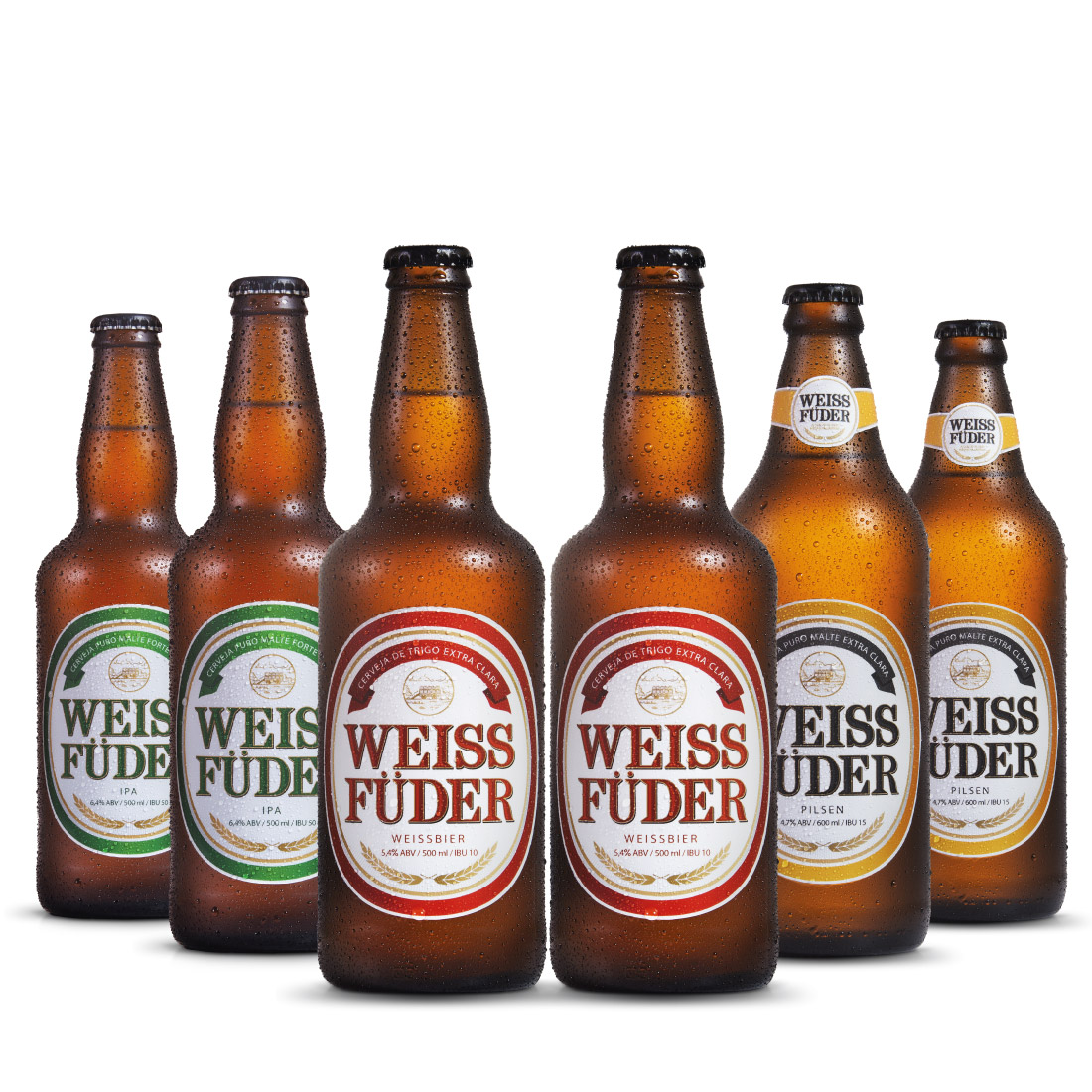 Combo Cerveja artesanal Weiss Füder  6 Garrafas variadas