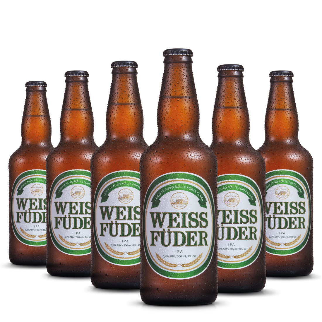 Combo cerveja artesanal Weiss Füder IPA 6 Garrafas