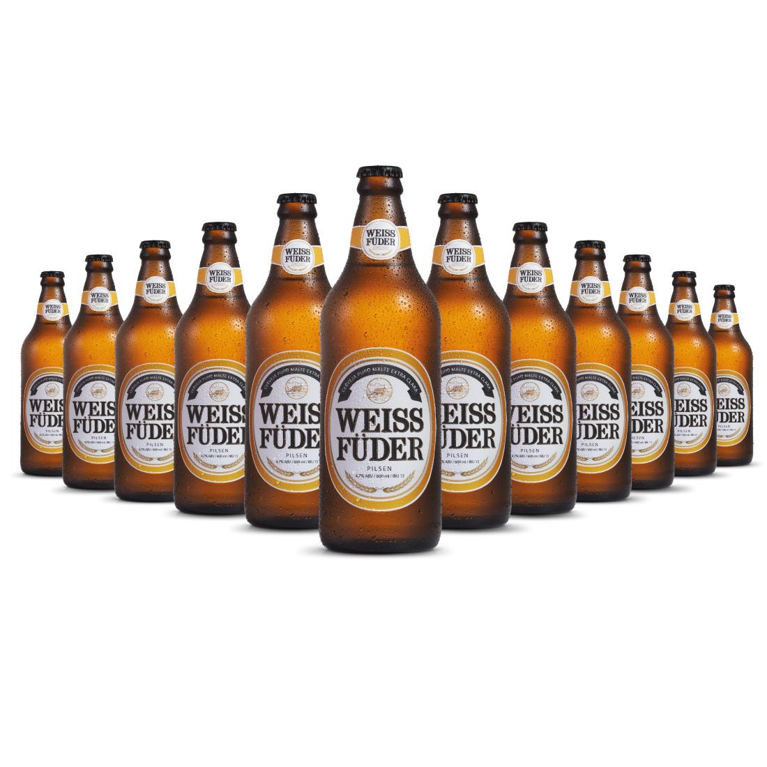 Combo cerveja artesanal Weiss Füder Pilsen 12 Garrafas