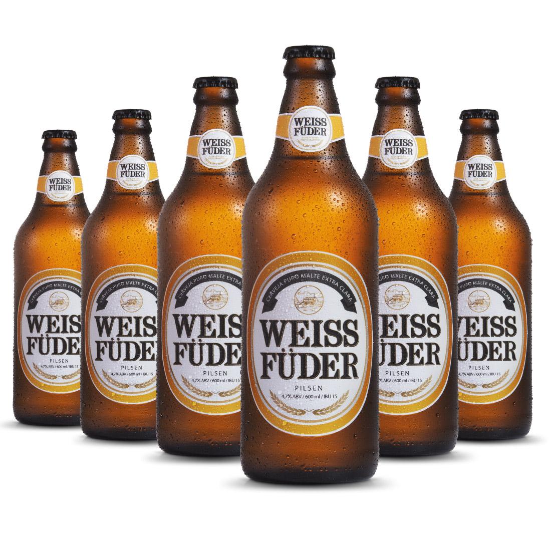 Combo cerveja artesanal Weiss Füder Pilsen 6 Garrafas