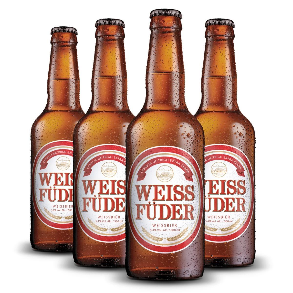 Combo cerveja Weiss Füder 4 garrafas