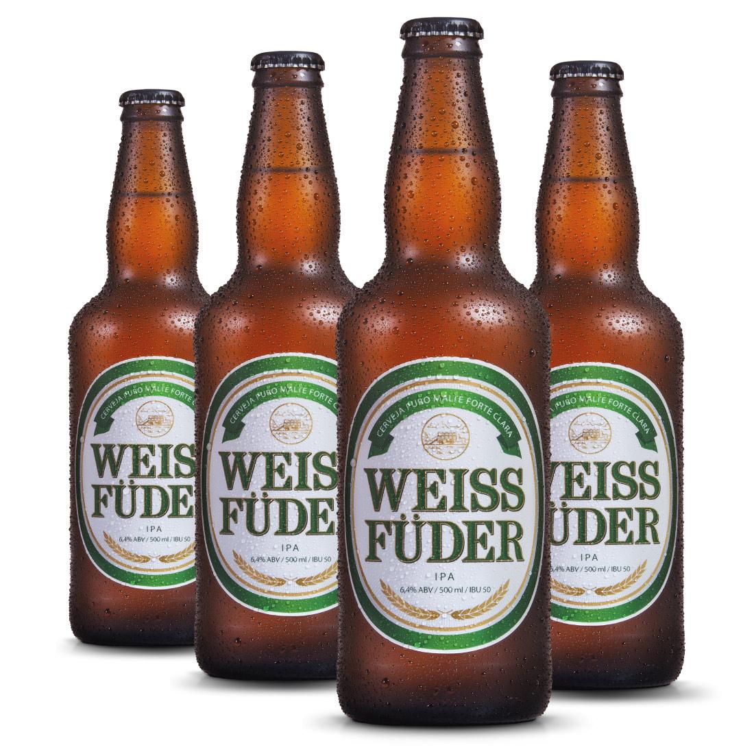 Combo cerveja Weiss Füder IPA 4 garrafas