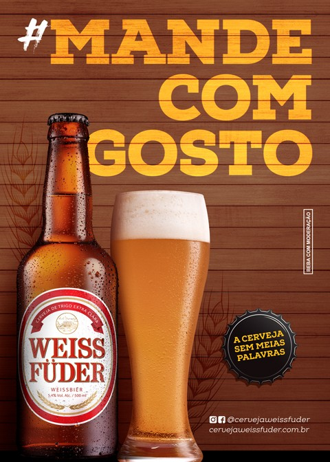 Combo cerveja artesanal Weiss Füder 1 kit com garrafa e copo + 1 avental + 1 boné branco