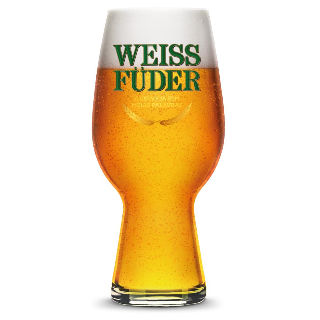 Copo IPA cerveja Weiss Füder