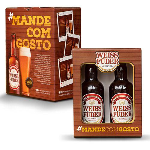 Kit cerveja Weiss Füder  2 garrafas