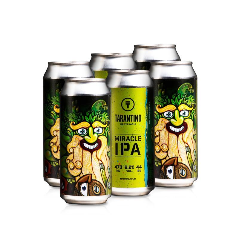 Cerveja Tarantino Miracle IPA - 6 Pack (R$19,90/lata)