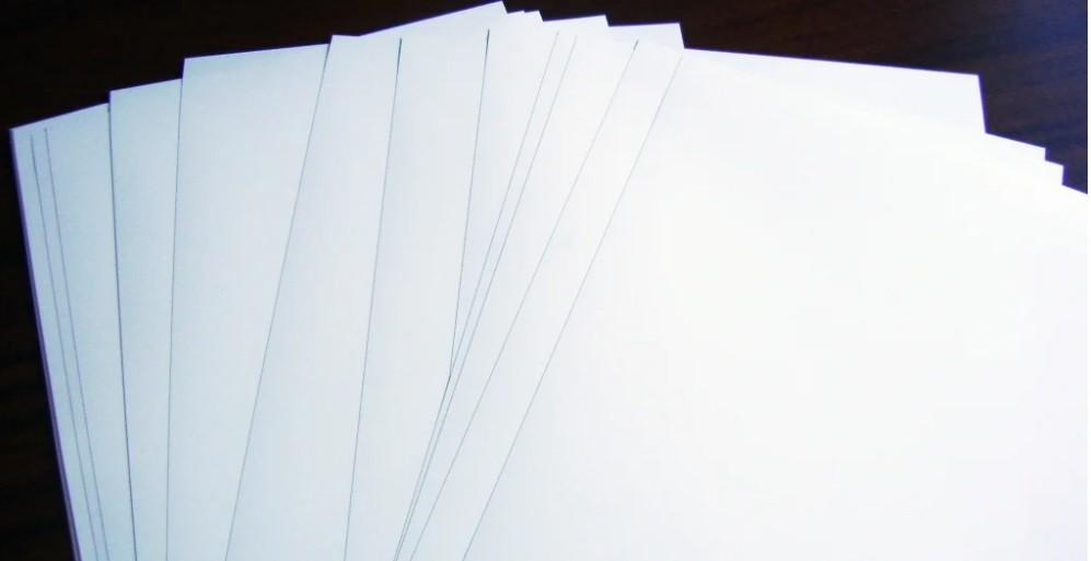 Pvc Laser Branco 300MIC 0,33x0,48m c/100 folhas
