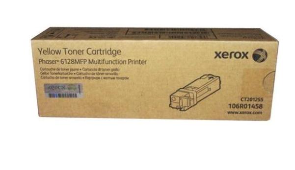 Toner Original Xerox 106r01458 Amarelo Xerox Phaser 6128