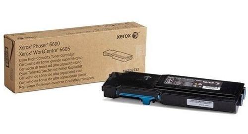 Toner Xerox Phaser 6600/WC6605 Ciano 106R02233 6K