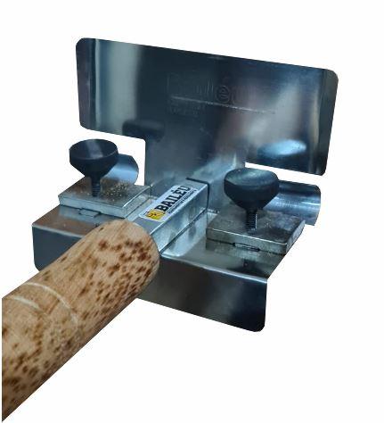 Frisador para massa  -1 cm meia cana