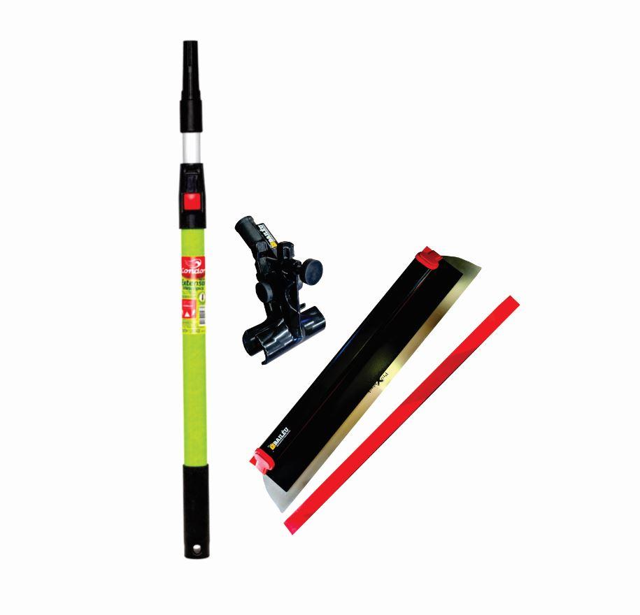 Kit Desempenadeira Premium ProX black 60 cm, suporte e cabo 1M