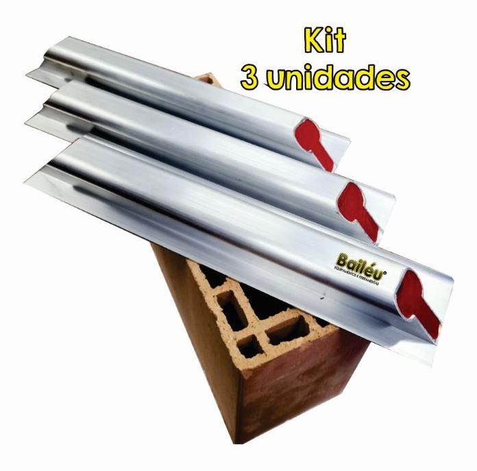 Kit - Paleta espátula Beta 40CM para assentamento de bloco estrutural (3 unid.)