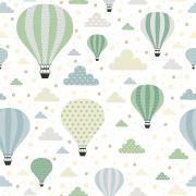 Papel de Parede Adesivo Lavável Infantil Balões CO-800- Cole Aí
