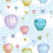 Papel de Parede Infantil Balões CO801- Cole Aí