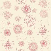 Papel de Parede Para Quarto Floral Rosa - Cole Aí