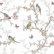 Papel de Parede Para Quarto Pássaros e Galhos - Cole Aí