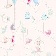 Papel de Parede Para Quarto Pássaros Sweet - Cole Aí