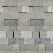 Papel de Parede Para Sala Pedras Cinza - Cole Aí