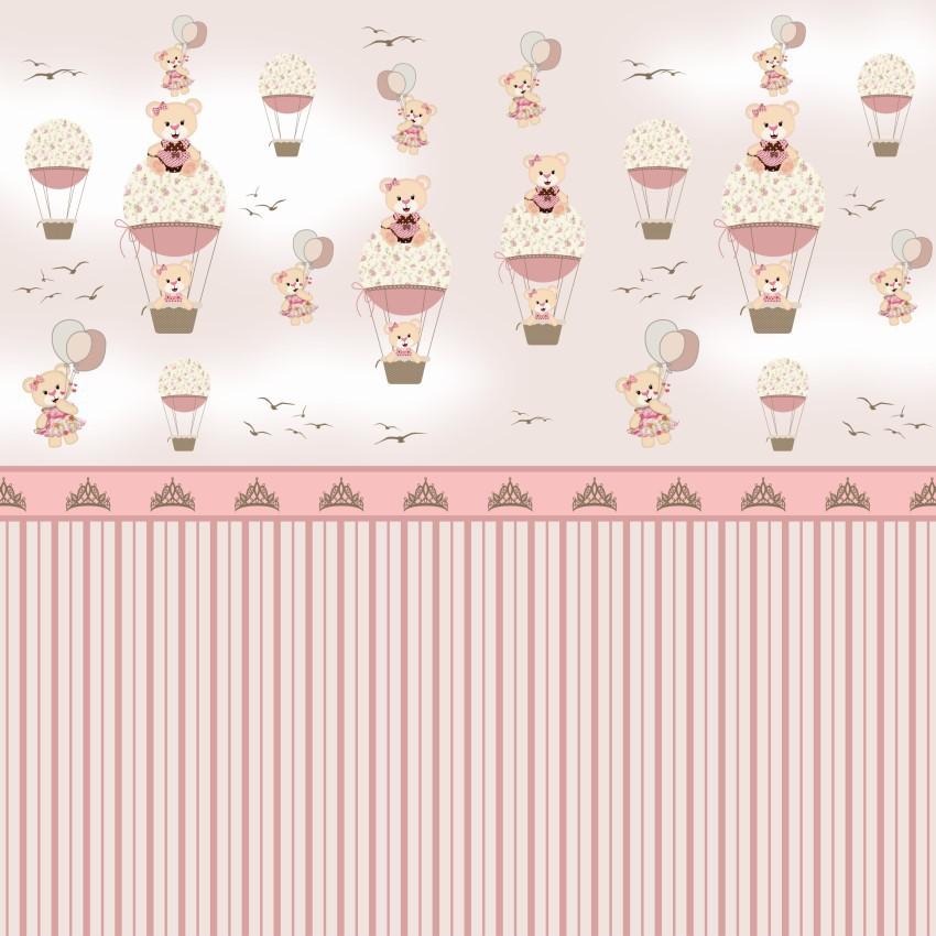 Papel de Parede  Balões Rosa CO-232 Cole Aí