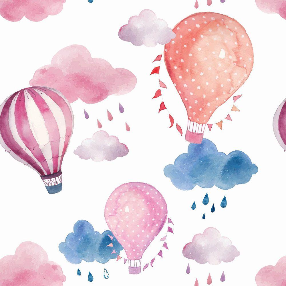 Papel de Parede Infantil Balões CO803- Cole Aí