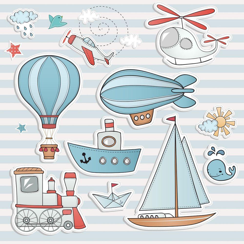Papel de Parede Infantil Balões CO804- Cole Aí