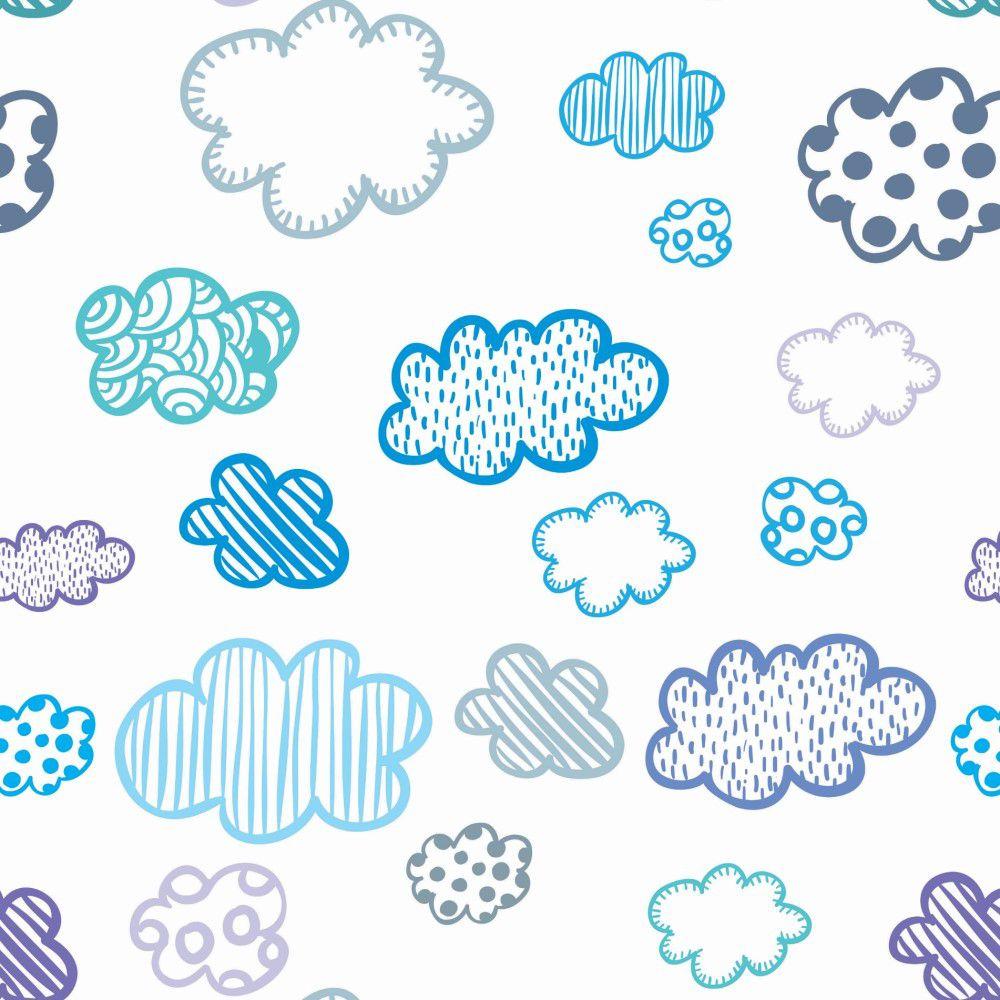 Papel de Parede Adesivo Lavável Nuvem CO-223 Cole Aí