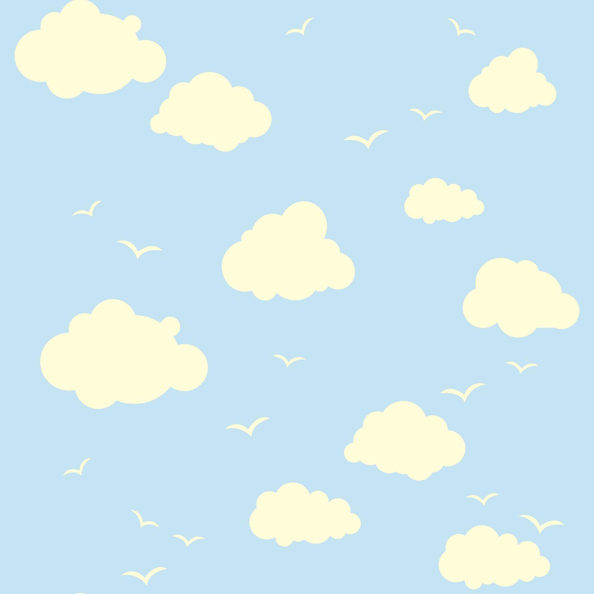 Papel de Parede  Nuvem CO-226 Cole Aí