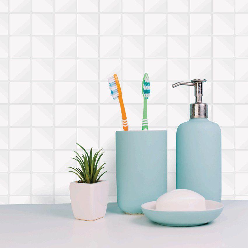 Papel de Parede Para Banheiro Pastilha CO-501 - Cole Aí