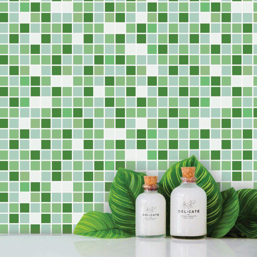 Papel de Parede Para Banheiro Pastilha CO-508 - Cole Aí