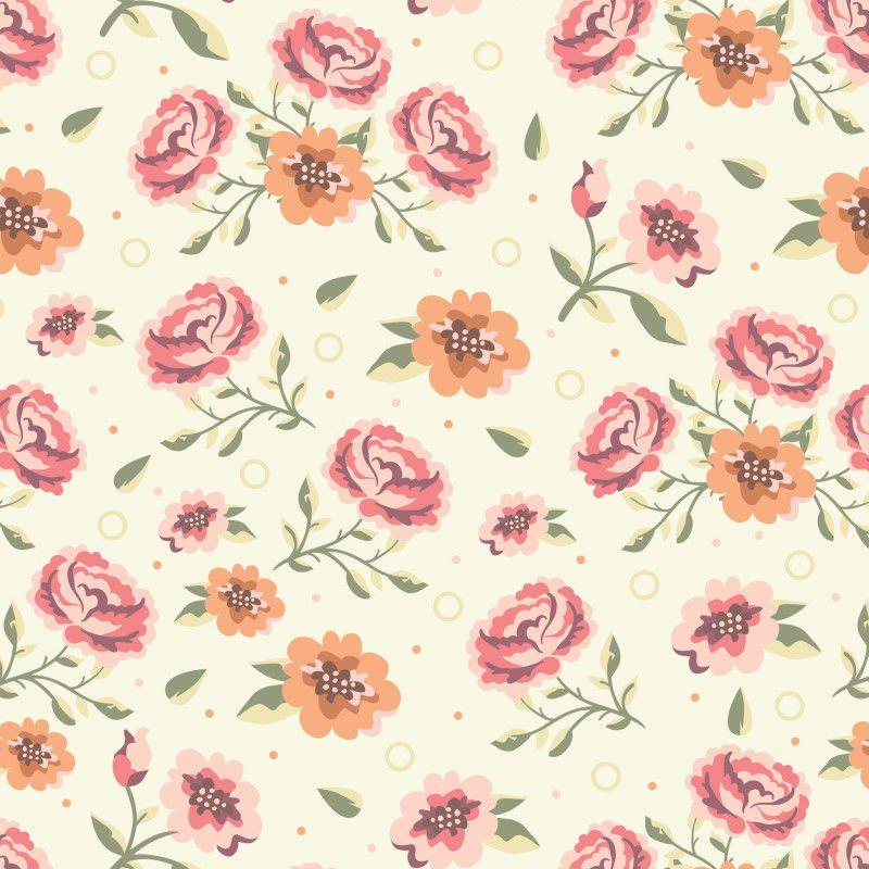 Papel de Parede Para Quarto Floral Vermelho - Cole Aí