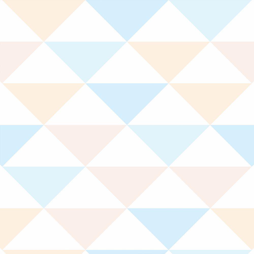Papel de Parede Para Quarto Geométrico Branco/Azul/Rosa - Cole Aí