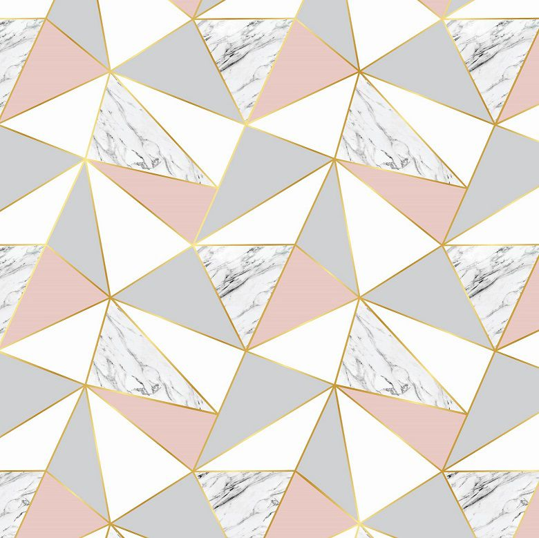 Papel de Parede Para Sala Geométrico Mármore CO-624 - Cole Aí