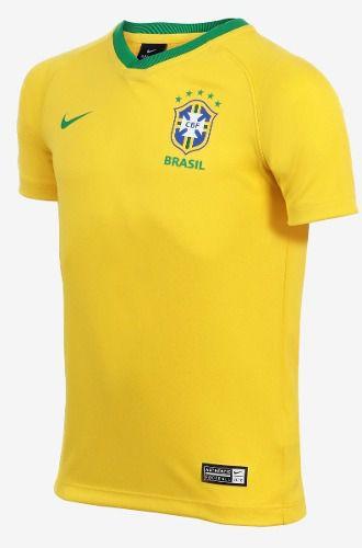 Camisa Nike Brasil I Torcedor Estádio Infantil  - Ferron Sport