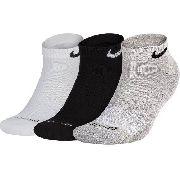 Meia Nike Cotton Cushion Cano Baixo - 3 Pares