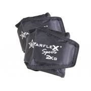 Caneleira Peso Starflex 2kg Unissex - Par
