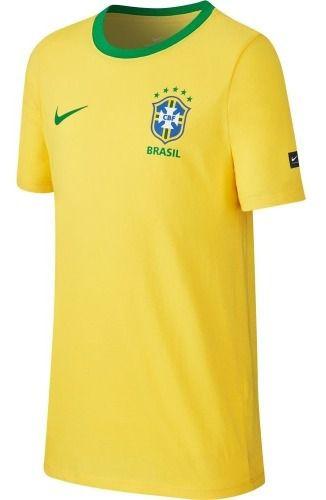 Camisa Nike Brasil Crest Infantil  - Ferron Sport