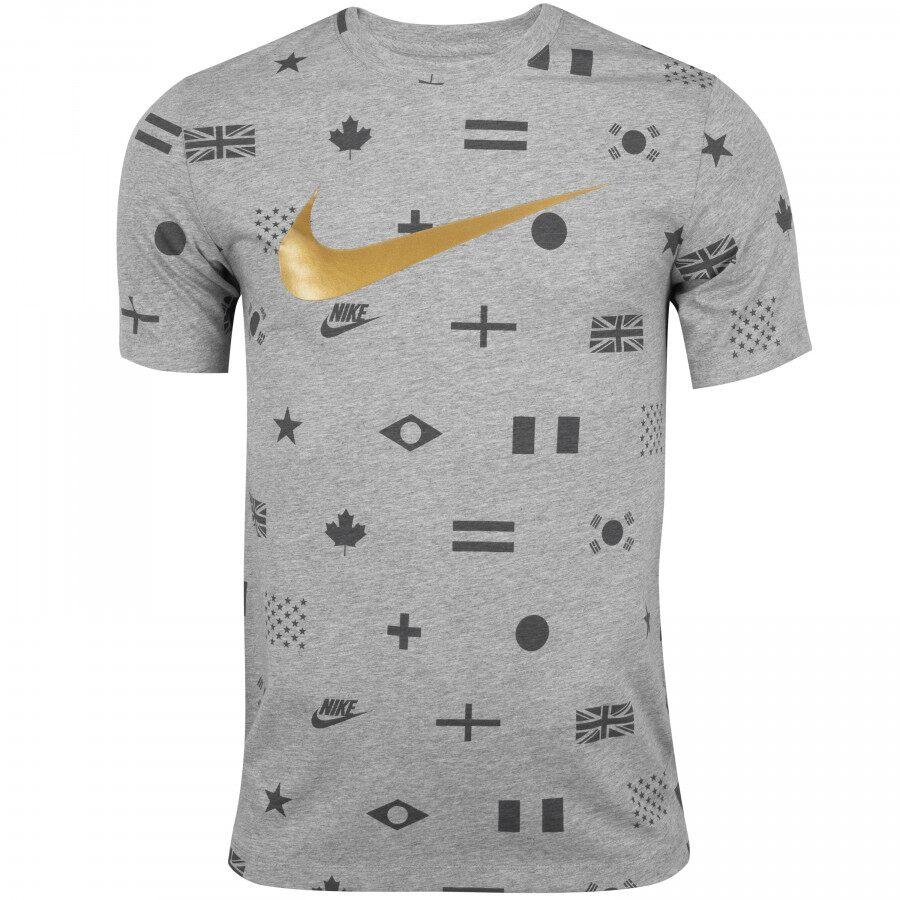 Camiseta Nike Sportswear Preheat Printed Masculina  - Ferron Sport