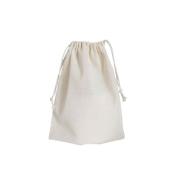 15x20 cm - pequeno - Saco liso de algodão cru reutilizável com cordão cru para compra a granel