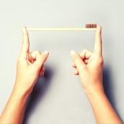 Escova de Dente de Bambu Biodegradável e natural para  Limpeza Higiene Bucal