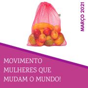 Kit ESPECIAL MULHERES QUE MUDAM O MUNDO  20 Saquinhos reutilizáveis  BRINDE uma Scrunchie!