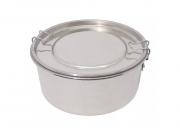 Marmita de alumínio redonda média para leva refeição alumínio polido. REUSE!