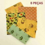 Pano encerado ECOwrap  - Kit com 5 panos de cera - Não use mais plástico filme ou papel alumínio!